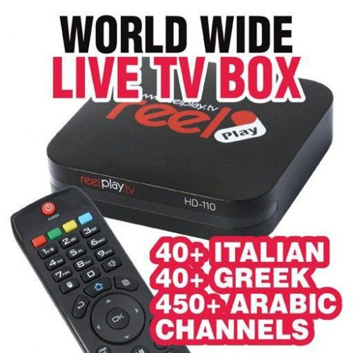 ReelTV Live TV Streaming Box Arabic/Greek/Italian